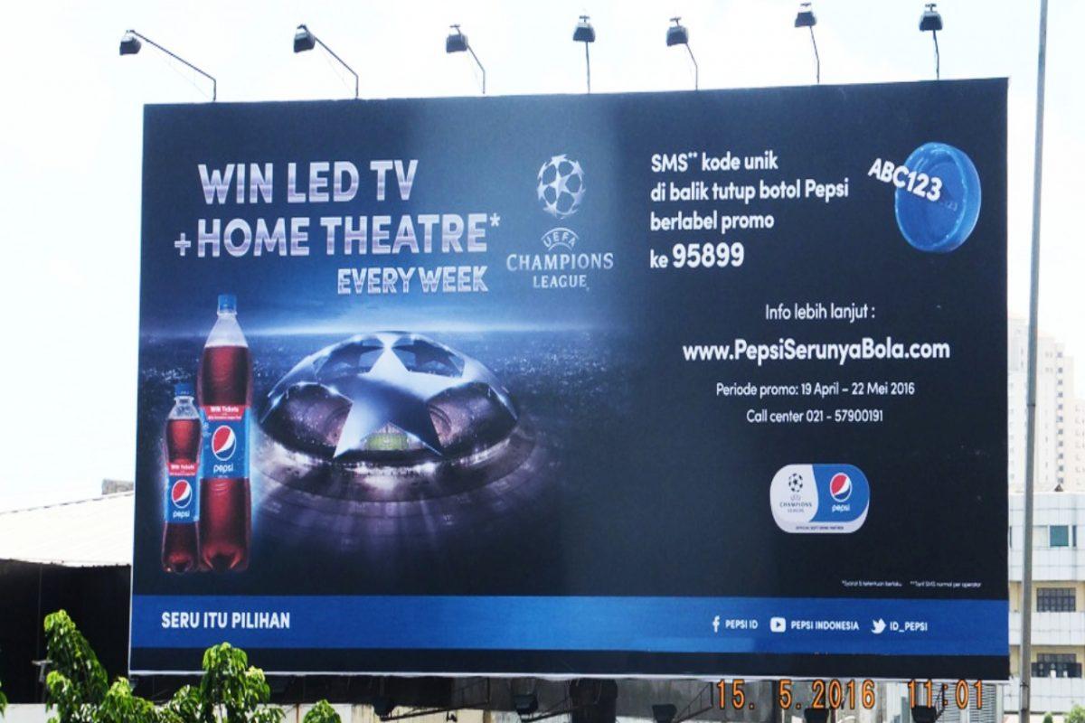 Billboard jl.Wiyoto Wiyono - Pepsi